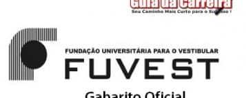 Fuvest – Gabarito Oficial da Primeira Fase do Vestibular 2013